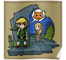 Legend of Zelda Wind Waker Meow T-Shirt Poster