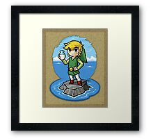 Legend of Zelda Wind Waker Bottle of Milk T-Shirt Framed Print