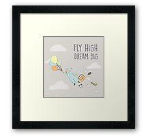 Flying baby Framed Print