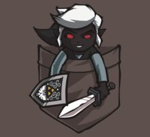Pocket Dark Link Legend of Zelda T-Shirt by Purrdemonium