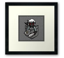 Pocket Dark Link Legend of Zelda T-Shirt Framed Print
