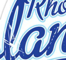 Rhode Island State Script VINTAGE Blue Sticker
