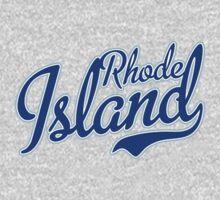 Rhode Island State Script Blue by USAswagg2