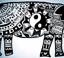 aztec elephant by zozoarking