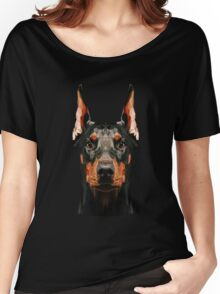 Doberman low poly Women's Relaxed Fit T-Shirt