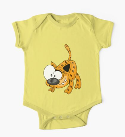 Cartoon big cat One Piece - Short Sleeve