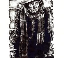 Tom Baker as The Doctor by Cleave