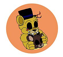Golden Freddy (FNAF Bubble Collection) Photographic Print