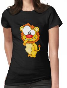 Cartoon big cat Womens Fitted T-Shirt