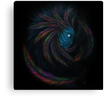 Feathers Girl Canvas Print
