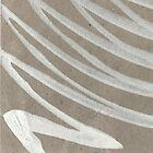 white ink on brown cardboard by Harriet Wenske