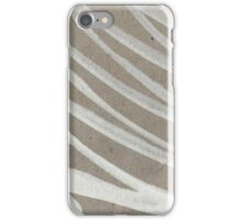 white ink on brown cardboard iPhone Case/Skin