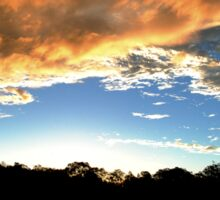 Gold and Blue Cloudy Sunrise . Original exclusive photo art. Sticker
