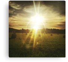 Country Side Sun rise Canvas Print