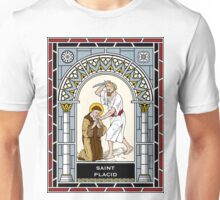 ST PLACID under STAINED GLASS Unisex T-Shirt