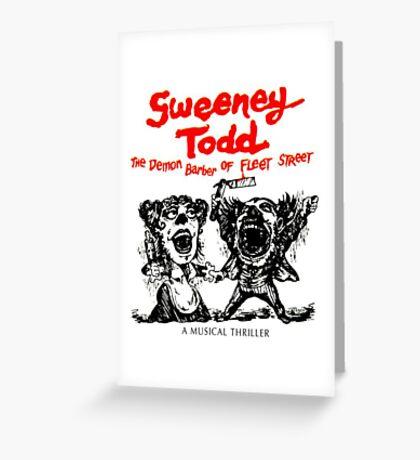 Sweeney Todd  Greeting Card