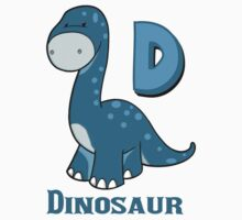 D is for Dinosaur  Baby Tee
