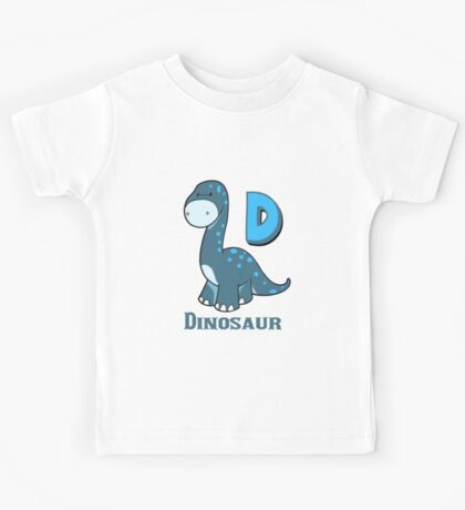 D is for Dinosaur  Kids Tee
