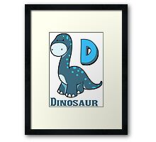 D is for Dinosaur  Framed Print