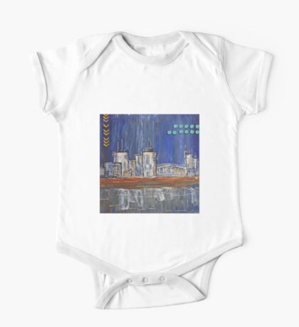 Cityscape by night One Piece - Short Sleeve