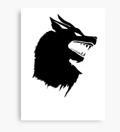 Game of Thrones Direwolf  Canvas Print