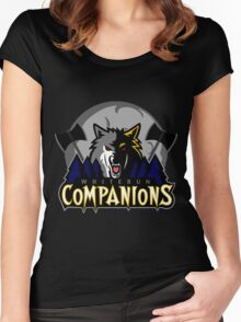 Whiterun Companions Basketball Logo Women's Fitted Scoop T-Shirt