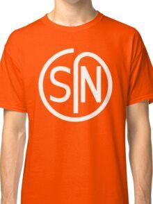 NJS SIN T-Shirt White Print Classic T-Shirt