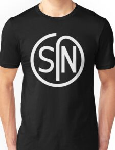 NJS SIN T-Shirt White Print Unisex T-Shirt