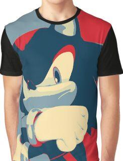 Shadow the Hedgehog (Obama Hope Poster Parody) Graphic T-Shirt