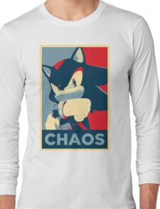 Shadow the Hedgehog (Obama Hope Poster Parody) Long Sleeve T-Shirt