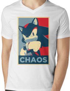 Shadow the Hedgehog (Obama Hope Poster Parody) Mens V-Neck T-Shirt