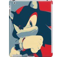 Shadow the Hedgehog (Obama Hope Poster Parody) iPad Case/Skin