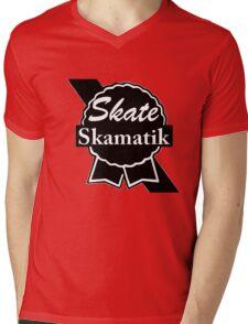 Skate Ribbon  Mens V-Neck T-Shirt