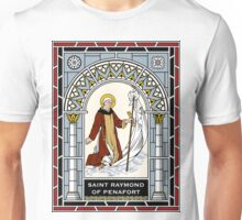 ST RAYMUND OF PENNAFORT under STAINED GLASS Unisex T-Shirt