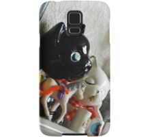 Horse and baby, two cats and a cart Samsung Galaxy Case/Skin