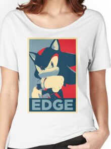 Shadow the Hedgehog 2 (Obama Hope Poster Parody) [EDGY] Women's Relaxed Fit T-Shirt