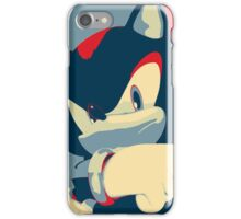 Shadow the Hedgehog 2 (Obama Hope Poster Parody) [EDGY] iPhone Case/Skin