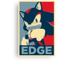 Shadow the Hedgehog 2 (Obama Hope Poster Parody) [EDGY] Canvas Print