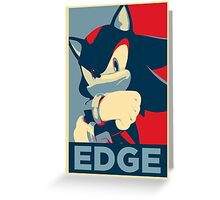 Shadow the Hedgehog 2 (Obama Hope Poster Parody) [EDGY] Greeting Card