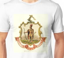 Massachusetts State Coat of Arms 1876 Unisex T-Shirt