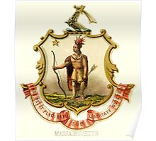 Massachusetts State Coat of Arms 1876 Poster