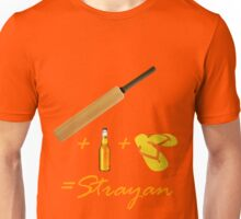 Cricket + Beer + Thongs = Strayan Unisex T-Shirt