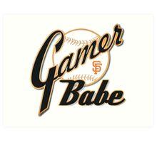 SF Giants Gamer Babe Art Print