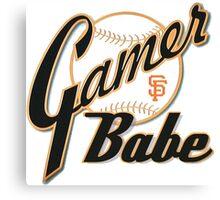 SF Giants Gamer Babe Canvas Print