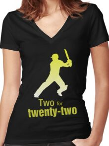 Two for twenty-two Women's Fitted V-Neck T-Shirt
