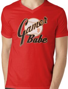 SF Giants Gamer Babe Mens V-Neck T-Shirt