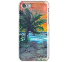Painting of Shrimp Boat at Sunset iPhone Case/Skin