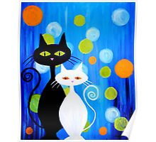 Fancy Cats Poster