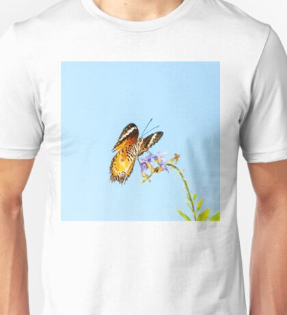 View of Colorful Orange butterfly in summer time Unisex T-Shirt