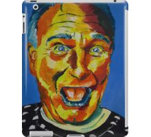 Robbin Williams acrylic on paper iPad Case/Skin